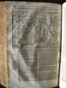 The woodcut as amended, here taken from the 1576 edition of the Actes and Monuments, Perne Library, shelfmark E.11.17