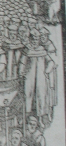 Perne as Vice-Chancellor, from Foxe's Actes and Monuments.