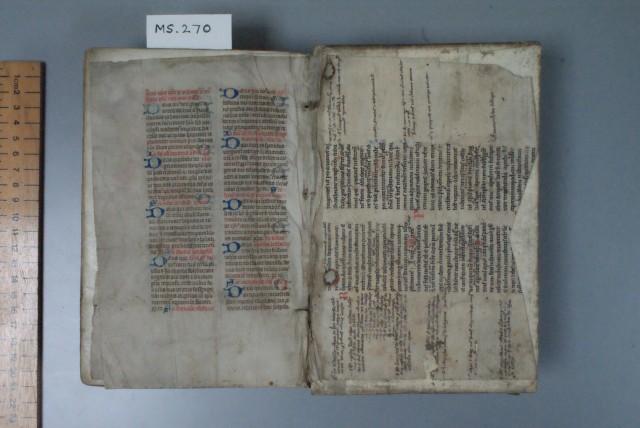 (Pic 4) Thirteenth-century back pastedown manuscript
